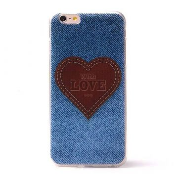 Jeans love hartje soft TPU case jeans iPhone 6 Plus hoesje