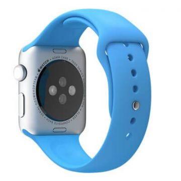 Blauw bandje Apple Watch 38mm siliconen