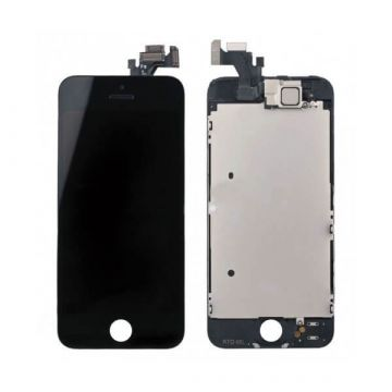 1st Quality complete assembled Glass digitizer, LCD Retina Screen and Full Frame for iPhone 5 Black