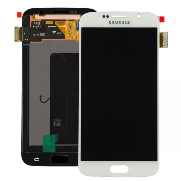 Original quality complete screen for Samsung Galaxy S6 in white
