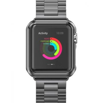 Kit Apple Watch 42mm Bracelet + Case Hoco Grey