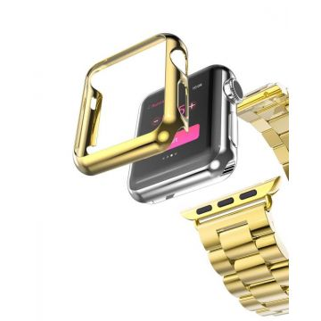 Kit Apple Watch 42mm Bracelet + Case Hoco Gold