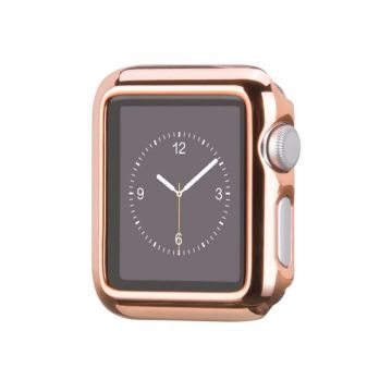 Hoco kit roze goud bandje en case Apple Watch 42mm
