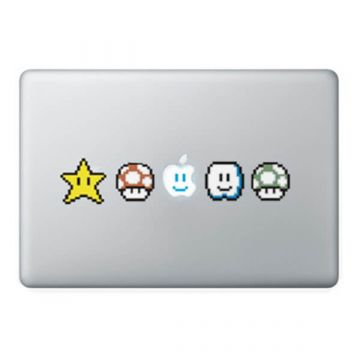 Sticker MacBook Vintage Gaming Couleur