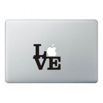 Love tekst MacBook sticker