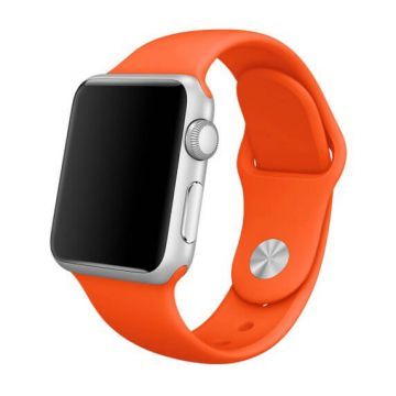 Oranje siliconen bandje Apple Watch 42mm S/M M/L