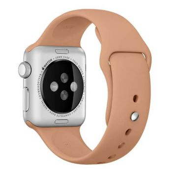 Walnoot bruin siliconen bandje Apple Watch 42mm S/M M/L