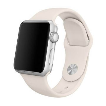 Antiek wit siliconen bandje Apple Watch 38mm S/M M/L