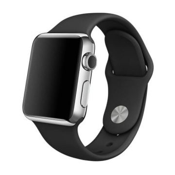 Zwart siliconen bandje Apple Watch 38mm S/M M/L
