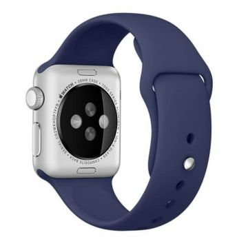 Donkerblauw siliconen bandje Apple Watch 38mm S/M M/L