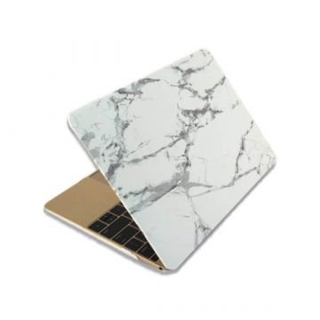 Coque soft touch style marbre MacBook 12''