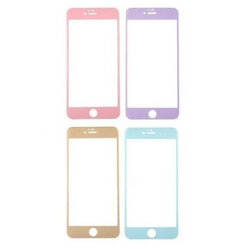 Gebogen carbon tempered glass screen protector iPhone 6 6S plus