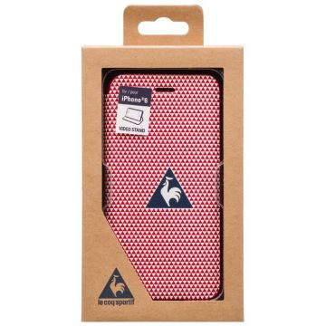 Le Coq Sportif wit rood portefeuille hoesje iPhone 6 6S