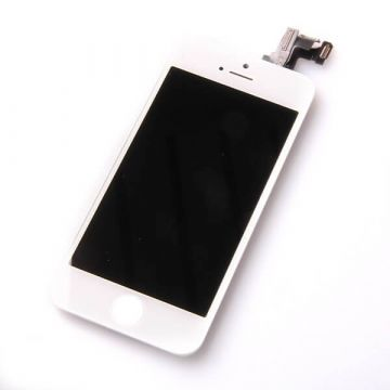 2nd Quality Glass digitizer complete assembled, LCD Retina Screen and Full Frame for iPhone 5C white