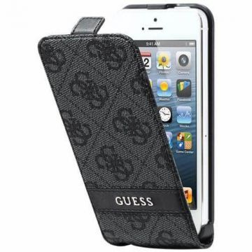 Guess Grey Logo Flapcase iPhone 5/5S/SE