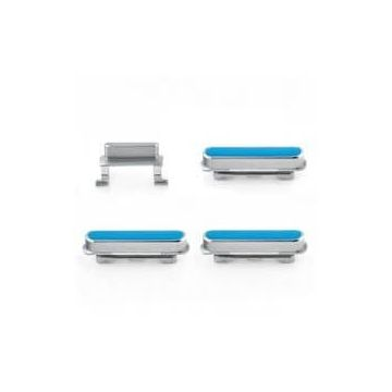 Set de 4 boutons (Power, Volume +, Volume -, Vibreur) Blanc pour iPhone 6 Plus