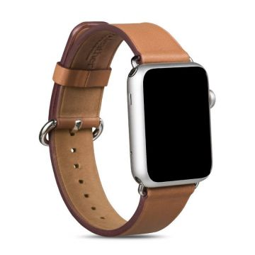 Hoco bruin lederen bandje Apple Watch 38mm