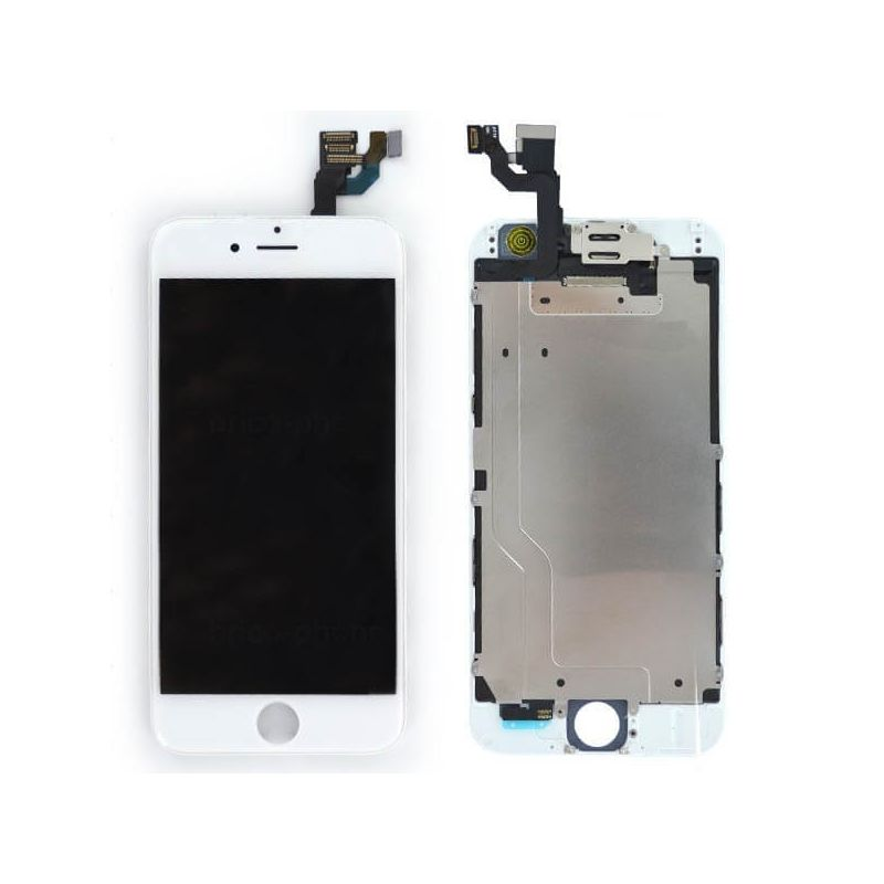 Complete Original Glass digitizer, LCD Retina Screen for iPhone 6S Plus white