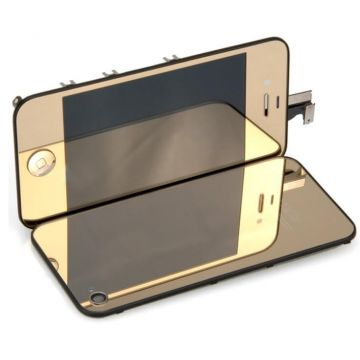 Touchscreen+Backcover set Gold Mirror iPhone 4