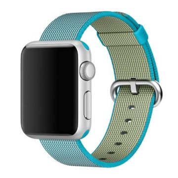 Scuba Blue Woven Nylon Band Apple Watch 38mm