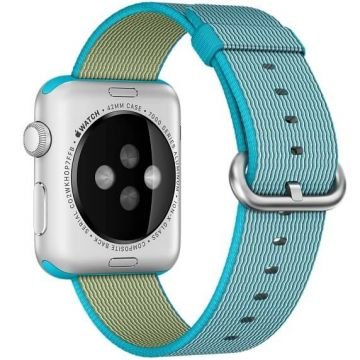 Bracelet Nylon Tressé Bleu Azur Apple Watch 42mm