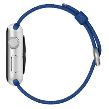 Bracelet Nylon Tressé Bleu Roi Apple Watch 42mm
