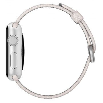 Bracelet Nylon Tressé Perle Apple Watch 42mm