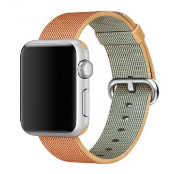 Gold/Red Woven Nylon Band Apple Watch 38mm