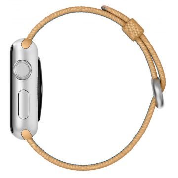Bracelet Nylon Tressé Or/Rouge Apple Watch 42mm