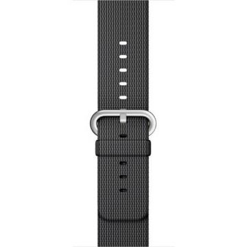 Black Woven Nylon Band Apple Watch 38mm