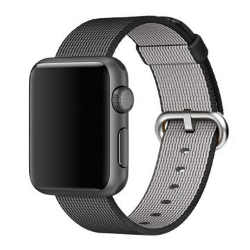 Bracelet Nylon Tressé Noir Apple Watch 44mm & 42mm