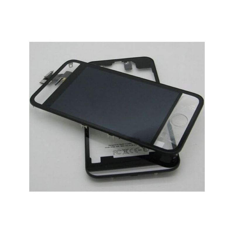 Complete Kit: Glass Digitizer & LCD Screen & Frame & Backcover First Quality iPhone 4S Mirror Translucent
