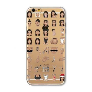 Kim Kardashian Emojis Model 2 iPhone 5/5S/SE Case