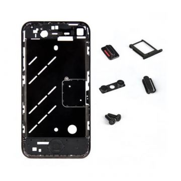 Frame and metallic border bezel for iPhone 4S Brilliant Black