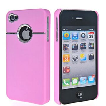 Coque Silver Line Rose iPhone 4 4S