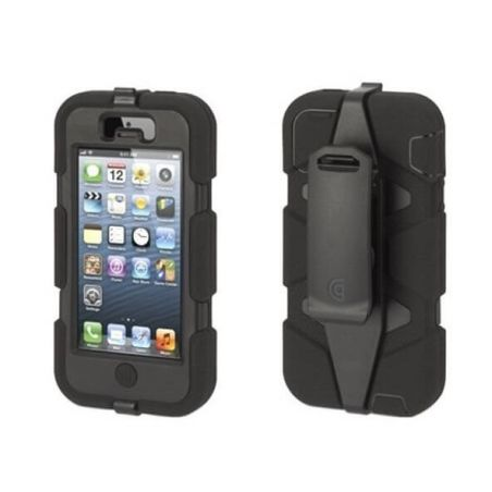 Indestructible Survivor Case Black for iPhone 4 4S + 2 free screenprotections