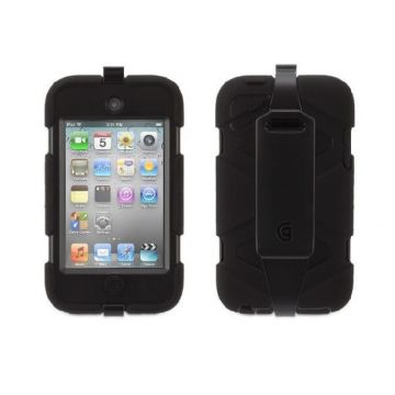 Indestructible Survivor Case Black for iPod Touch 4
