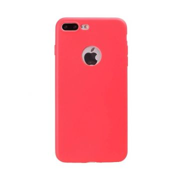 Siliconen Cover iPhone 7 Plus - Red Coral