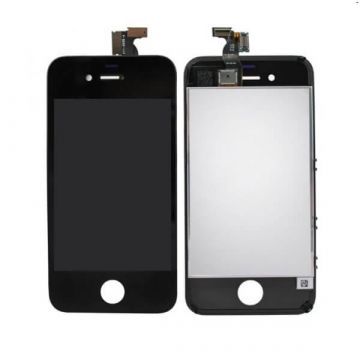 1st Quality Glass Digitizer, LCD Screen and Full Frame for iPhone 4S Black