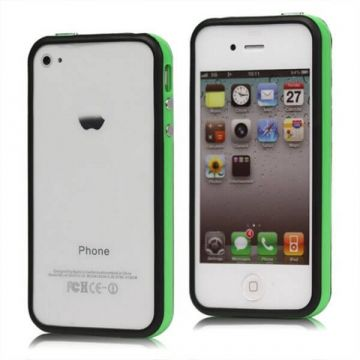 Bumper TPU for iPhone 4 & 4S Green & Black