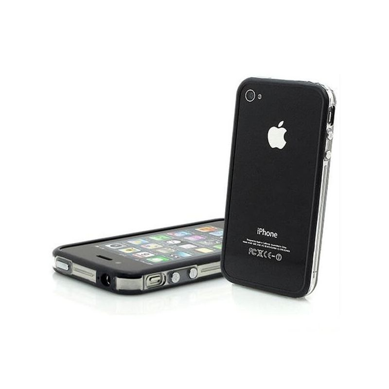 Bumper TPU for iPhone 4 & 4S Black & Transparent
