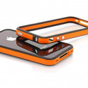 Bumper - Contour TPU Orange & Noir IPhone 4 & 4S