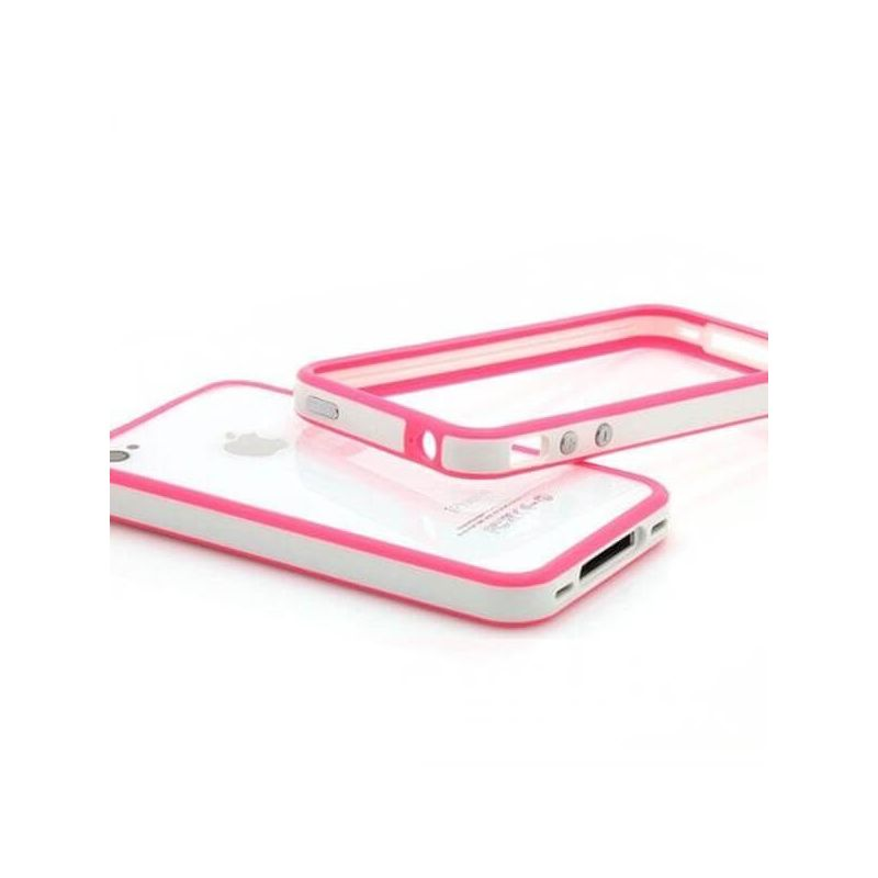 Bumper TPU for iPhone 4 & 4S White & Pink