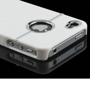 Cover Silver Line Wit iPhone 4 4S