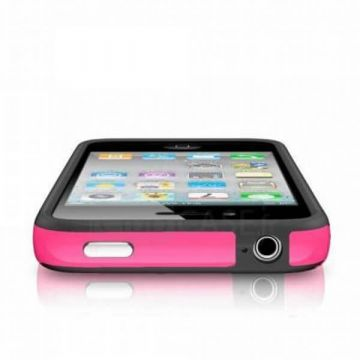 Bumper – Roze en zwarte rand in TPU IPhone 4 & 4S