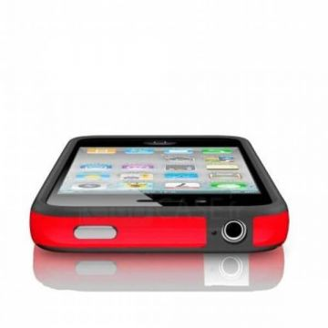 Bumper - Contour TPU Rouge & Noir IPhone 4 & 4S