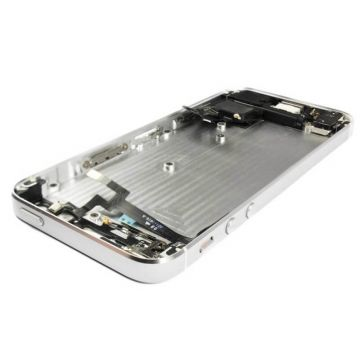 Complete frame and metallic border for iPhone 5 White