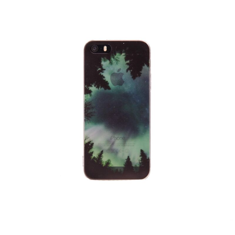Soepel Siliconen cover iPhone 5/5S/5SE Northern lights