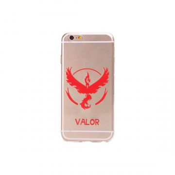 Pokemon Go Team Valor Clear hoesje iPhone 6/6S
