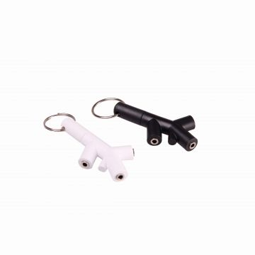 Porte-clé double audio Jack 3,5mm